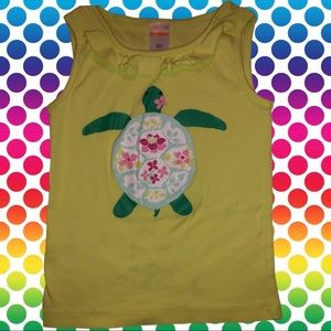 Gymboree apple green top with turtle design